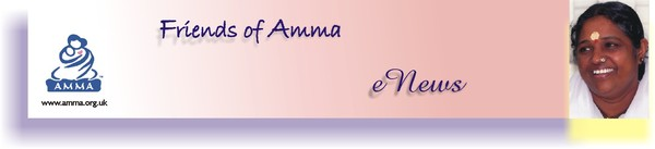 Your monthly Enews from Friends of Amma UK